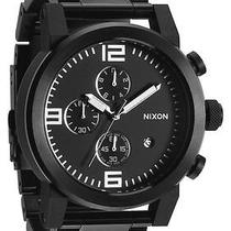 New Nixon A347-001 the Ride Ss All Black Men's Watch  Photo