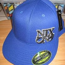 New Nixon Ball Hat Cap Mens 210 Fitted 6 7/8 - 7 1/4 S/m Wool Blend Blue Photo
