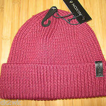 New Nixon Beanie Cap Hat Mens Osfa S M L Cuffed Warden Maroon Photo