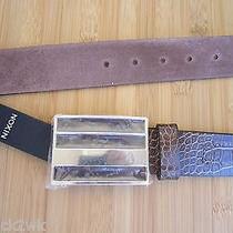 New Nixon Enamel Belt Men's S 28 30 32 Brown Croc Rotolog Photo