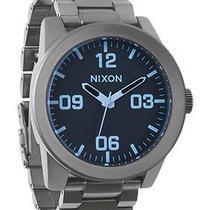New Nixon Men's A346-1427 Gunmetal Crystal Watch Photo