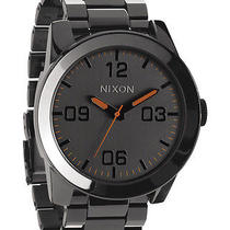 New Nixon Men's the Corporal Ss Watch Quartz Wristwatch Grey Photo
