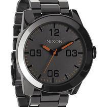 New Nixon Men's the Corporal Ss Watch Quartz Wristwatch Grey Photo