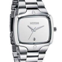 New Nixon Men's the Player Watch Men's Wristwatch Silver Photo