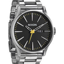 New Nixon Men's the Sentry Ss Watch Quartz Wristwatch Silver Photo