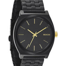 New Nixon Men's the Time Teller Watch Men's Wristwatch Black Photo