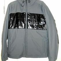 New Nixon so.california Women's Grey/black Grey Hooded Jacket Size M Photo