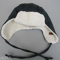 New Nixon Trapper Cap Hat Mens S M L Osfa Blue Green Plaid Faux Fur  Photo