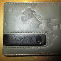 New Nixon Wallet Bifold Id Vegan Pu Faux Leather Men's Boy's Army Green Photo