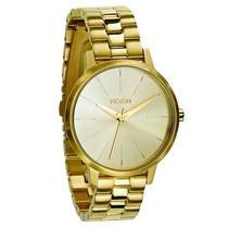New Nixon Women's Kensington Watch Quartz Wristwatch Gold Photo