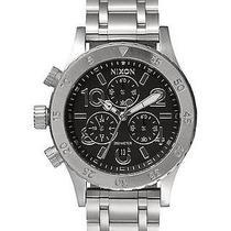 New Nixon Women's the 38-20 Chrono Watch Quartz Wristwatch Silver Photo