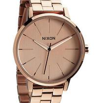 New Nixon Women's the Kensington Watch Quartz Wristwatch Gold Photo
