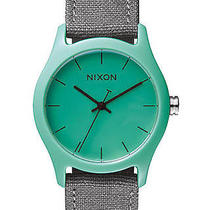New Nixon Women's the Mod Acetate Watch Canvas Wristwatch Blue Photo