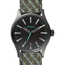 New Nixon Women's the Sentry 38 Leather Watch Quartz Wristwatch Photo