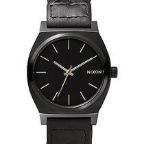 New Nixon Women's the Time Teller Leather Watch Women's Wristwatch Brown Photo