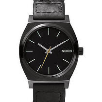 New Nixon Women's the Time Teller Watch Quartz Wristwatch Black Photo