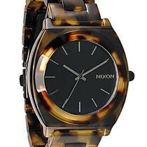 New Nixon Women's Time Teller Acetate Watch Quartz Wristwatch Black Photo