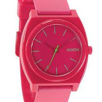 New Nixon Women's Time Teller Plastic Watch Quartz Wristwatch Pink Photo