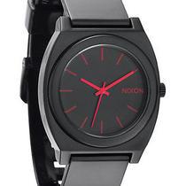 New Nixon Women's Time Teller Pu Watch Quartz Wristwatch Black Photo