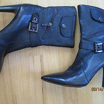 New No Box via Spiga Black High Heel Fashion Boots in Size 9m Photo
