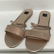 New No Box White House Black Market Rose Gold Sandals 7.5 Photo