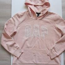 New No Tags Gap Girls Hoodie Pullover Sweatshirt Logo Applique Pale Pink Size S  Photo