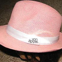 New No Tags Wmns One Size Pink/white Von Zipper Paper Straw Fedora Hat  Photo