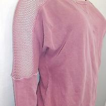 New Nordstrom Womens Sanctuary Clothing Blush Open Knit Long Sleeve Sweater Sz S Photo