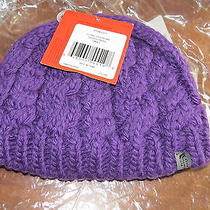 New North Face Cable Fish Beaniegravity Purple Sm Nwt Photo