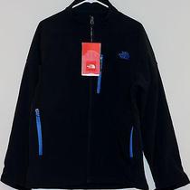 New North Face Men Apex Bionic Jacket Softshell Large Windproof Black/blue Photo