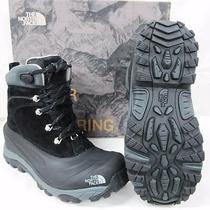 New Northface Mens Chilkat Ii Waterproof Boots Awmc Black Griffin Grey 10.5 Photo