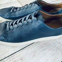 New Nwob Frye Mens Lace Up Casual Low Sneakers Dark Teal Leather Sz 13 D Photo
