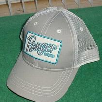 New Nwot Ranger Boats Gray Blue Mesh Snapback Patch Hat Cap Fishing Rare  Photo