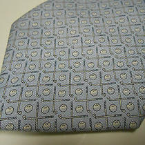New Nwot Vineyard Vines Mens Tie Golf Clubs & Balls Light Pale Blue Made in Usa  Photo
