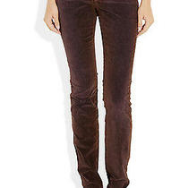 New Nwt 295 Theyskens Theory Corduroy Pants Soft Womens 26 Skinny Purple Brown Photo