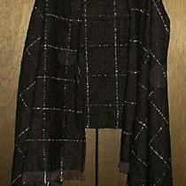New Nwt 50 Express Black Knit Poncho Vest Sweater Top Womens Os One Size Photo