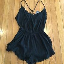 New Nwt Abercrombie & Fitch Shorts Sleeveless Romper Black Size Xs Photo