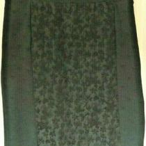 New Nwt Anthropogie Moulinette Soeurs Black Embroidered Skirt Size 14 Photo