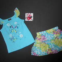 New Nwt Baby Girl Clothes Size 24 Months 2 Piece Outfit Frilly Skirt & Top  Photo