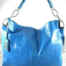 New Nwt Badgley Mischka 325 Gaia Blue Leather Hobo Bag Photo