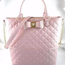 New Nwt Betsey Johnson Be My Honey Pink Blush Tote Bag Photo