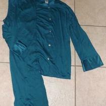 New Nwt Dark Teal Green Large 12 / 14 Soft Stretchy Pajama Lounge Set Natori Photo