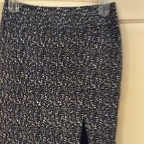 New Nwt Express Black White Pencil Skirt Career Church Size 2 Silk Blend Lined Photo