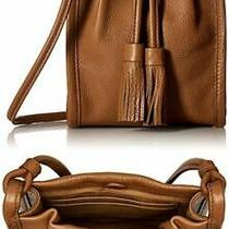 New Nwt Fossil Claire Tech Bag Tan Sl7421231 Small Purse Drawstring Leather Photo
