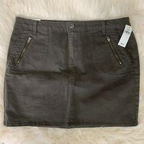 New Nwt Gap Sz 8 Brown Blue Jean Skirt Msrp 39.99 Photo