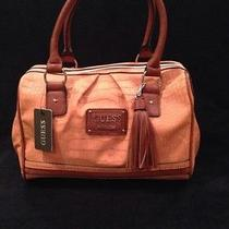 New Nwt Guess Hiroko Box Satchel Cognac  Photo