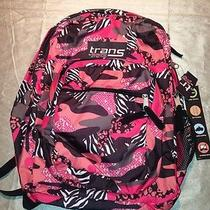 New Nwt Jansport Supermax Pink Camouflage Backpack School Book Bag Photo