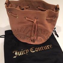 New Nwt Juicy Couture Mini Bucket Shoulder Bag Heritage Yhru4006 Camel 268 Photo