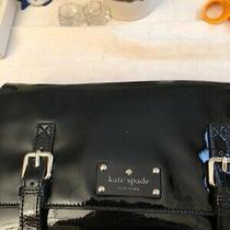 New Nwt Kate Spade Black Patent Leather Flicker Ellie Clutch 7.5 X 12 In Photo