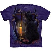 New Nwt Lisa Parker Midnight Cat Vigil T-Shirt Dark of Night Watch Medium Photo